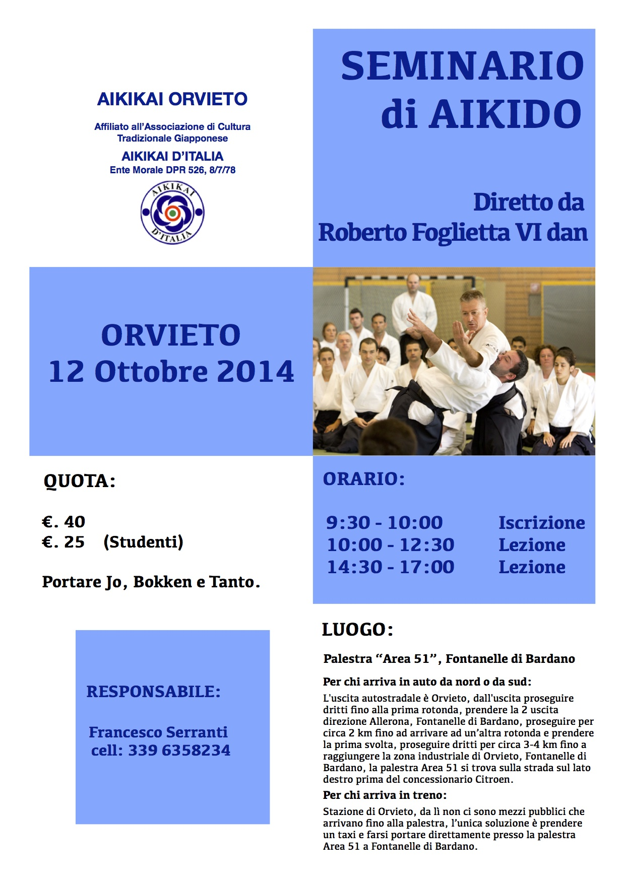 Seminario Foglietta a Orvieto 12/10/2014